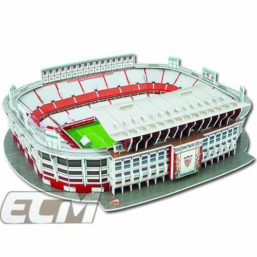 実物 NAO01 セビージャ オフィシャルグッズ エスタディオ ラモン サンチェス ピスフアン Sevilla スペインリーグ お取り寄せ 低価格化 3Dパズル サッカー スタジアム