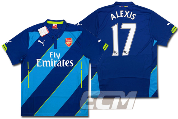 【予約ECM32】アーセナル サード 半袖 17番 アレクシス【14-15/Arsenal/サッカー/プレミアリーグ】