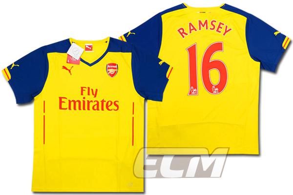 【予約ECM32】アーセナル アウェイ 半袖 16番 ラムジー【14-15/Arsenal/サッカー/プレミアリーグ】