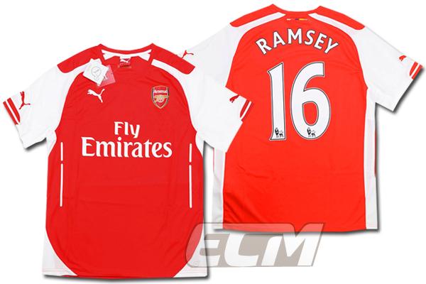 【予約ECM32】アーセナル ホーム 半袖 16番 ラムジー【14-15/Arsenal/サッカー/プレミアリーグ】