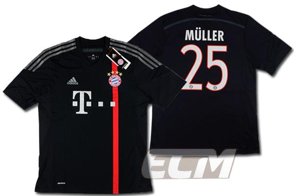 【予約ECM32】バイエルンミュンヘン サード 半袖 25番 ミュラー【14-15/ブンデスリーガ/Muller/サッカー/ユニフォーム】