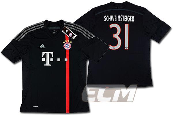 【予約ECM32】バイエルンミュンヘン サード 半袖 31番 シュバインシュタイガー【14-15/ブンデスリーガ/Schweinsteiger/サッカー/ユニフォーム】