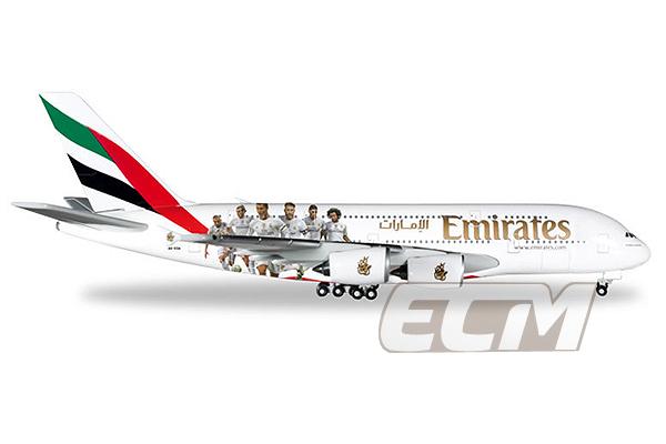 【国内未発売】レアルマドリード エミレーツ航空 エアバス A380 1:500【サッカー/Real Madrid/Herpa/ヘルパ/飛行機模型】