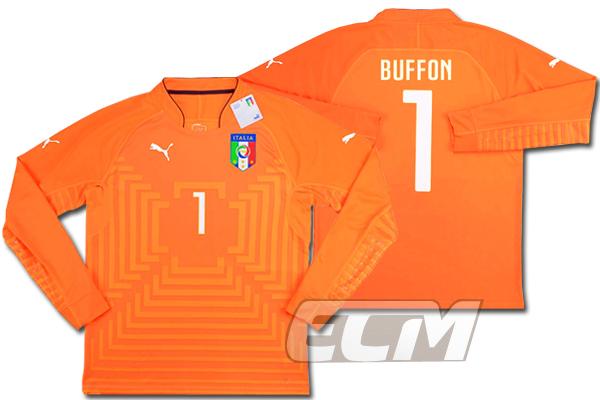 【予約ECM32】イタリア代表 GK プレイヤーズモデル オレンジ 長袖 1番 ブッフォン【14-15/Juventus/サッカー/ユニフォーム/セリエA/Buffon】