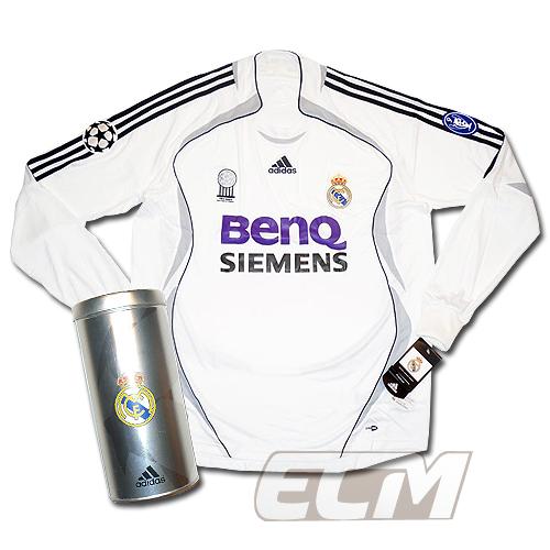 【予約RMD08】【デッドストック】レアルマドリード ホーム チャンピオンズリーグ用 長袖【Real Madrid/06-07/サッカー/リーガエスパニョーラ/ユニフォーム】