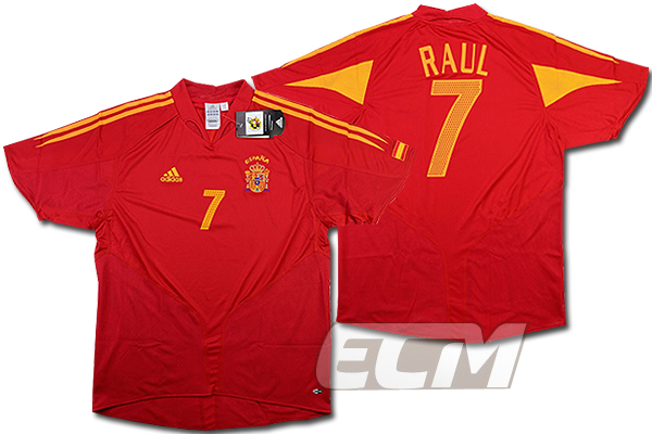 【激レア!】スペイン代表 ホーム 半袖 7番ラウール【サッカー/ワールドカップ/04-06/Raul】お取り寄せ対応可能