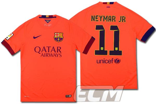 【予約ECM32】FCバルセロナ アウェイ 半袖 11番ネイマール【14-15/スペインリーグ/Barcelona/ユニフォーム/Neymar】