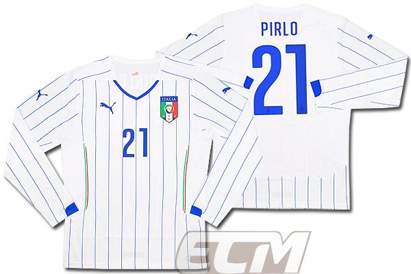 【予約ECM32】イタリア代表 プレイヤーズモデル アウェイ 長袖 21番 ピルロ【14-15/サッカー/ユニフォーム/セリエA/Pirlo】