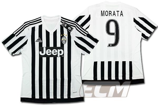 【予約ECM32】ユベントス ホーム 半袖 9番モラタ【15-16/イタリア・セリエA/Juventus/MORATA/サッカー/ユニフォーム】