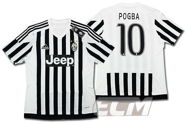 【予約ECM32】ユベントス ホーム 半袖 10番ポグバ【15-16/イタリア・セリエA/Juventus/Pogba/サッカー/ユニフォーム】