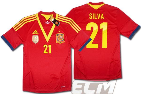 【予約ECM32】スペイン代表 ホーム 半袖 21番ダビド・シルバ プレイヤーズモデル+FIFAパッチ付【12-13/サッカー/ワールドカップ/SILVA/ユニフォーム】