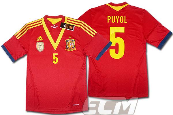 【予約ECM32】スペイン代表 ホーム 半袖 5番プジョール プレイヤーズモデル+FIFAパッチ付【12-13/ワールドカップ/サッカー/ユニフォーム/Puyol/プジョル】