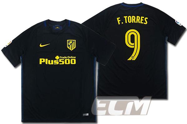 【予約ECM32】アトレチコマドリード アウェイ 半袖 9番 F.トーレス【16-17/Torres/Atletico madrid/サッカー/ユニフォーム】
