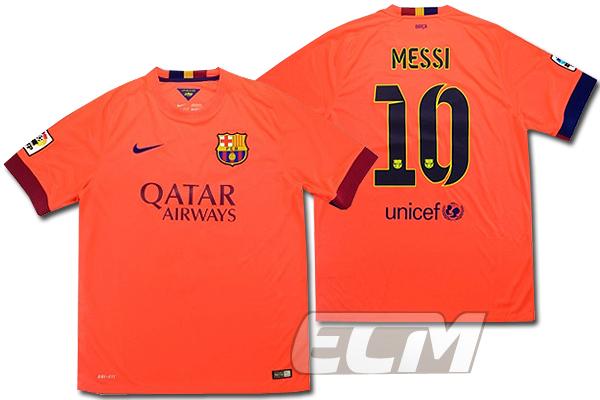 【予約ECM32】【デッドストック】FCバルセロナ アウェイ 半袖 10番メッシ【14-15/スペインリーグ/Barcelona/ユニフォーム】