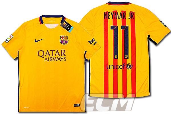 【予約ECM32】【デッドストック】FCバルセロナ アウェイ 半袖 11番ネイマール【15-16/スペインリーグ/Barcelona/ユニフォーム】