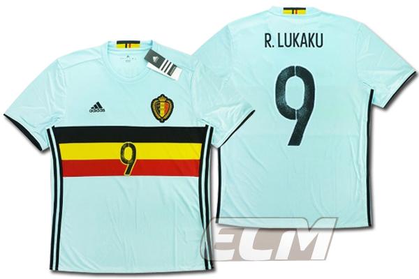 予約ECM32 国内未発売 SALE ベルギー代表 アウェイ 半袖 9番 ワールドカップ 低廉 ルカク サッカー Belgium 16-17 2020 新作 LUKAKU