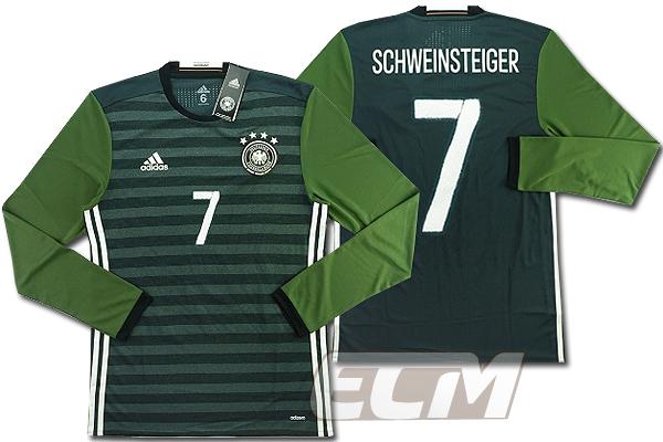【予約ECM32】【国内未発売】ドイツ代表 アウェイ 長袖 プレイヤーモデル 7番シュバインシュタイガー【サッカー/15-16/ワールドカップ/Germany/Schweinsteiger】