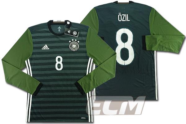 【予約ECM32】【国内未発売】ドイツ代表 アウェイ 長袖 プレイヤーモデル 8番エジル【サッカー/15-16/ワールドカップ/Germany/Ozil】