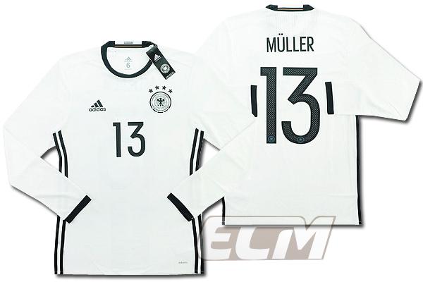 【予約ECM32】【国内未発売】ドイツ代表 ホーム 長袖 プレイヤーモデル 13番ミュラー【サッカー/15-16/ワールドカップ/Germany/Muller】