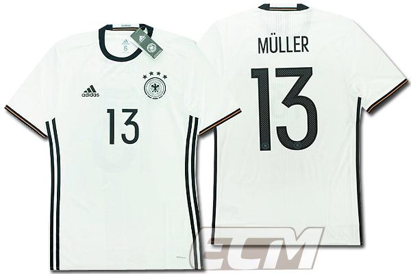 【予約ECM32】【国内未発売】ドイツ代表 ホーム 半袖 プレイヤーモデル 13番ミュラー【サッカー/15-16/ワールドカップ/Germany/Muller】