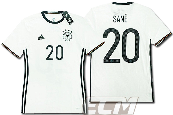 【予約ECM32】【国内未発売】ドイツ代表 ホーム 半袖 プレイヤーモデル 20番ザネ【サッカー/15-16/ワールドカップ/Germany/SANE】