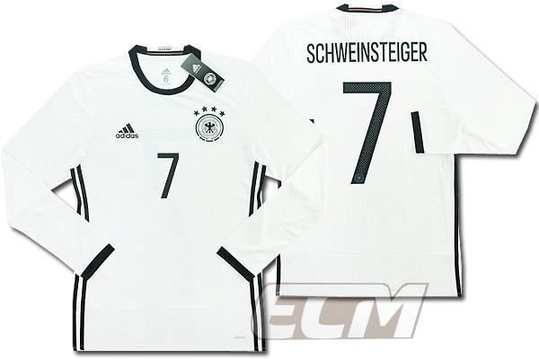 【予約ECM32】【国内未発売】ドイツ代表 ホーム 長袖 プレイヤーモデル 7番シュバインシュタイガー【サッカー/15-16/ワールドカップ/Germany/Schweinsteiger】