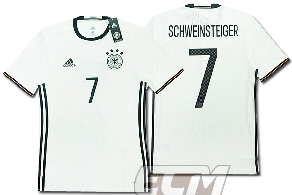 【予約ECM32】【国内未発売】ドイツ代表 ホーム 半袖 プレイヤーモデル 7番シュバインシュタイガー【サッカー/15-16/ワールドカップ/Germany/Schweinsteiger】