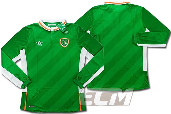 【予約ECM32】【国内未発売】アイルランド代表 ホーム 長袖 プレイヤーモデル【16-17/サッカー/ユニフォーム/Worldcup/Irland】825