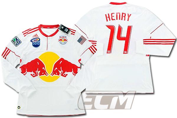【国内未発売】ニューヨーク・レッドブルズ オーセンティック ホーム 長袖 14番アンリ【2010/MLS/New York Red Bulls/サッカー/ユニフォーム/Henry】ECM32