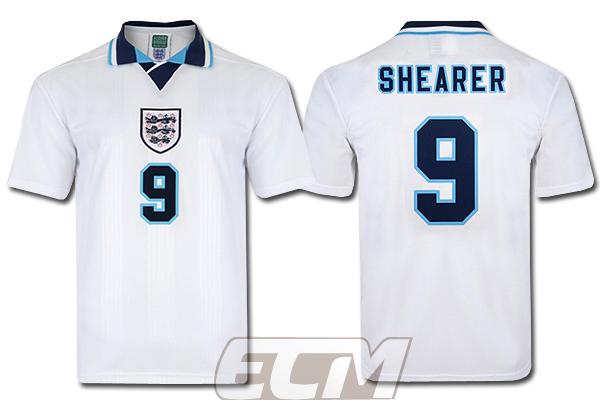 【予約SCD01】【国内未発売】ScoreDraw イングランド代表 1996 ホーム モデル 9番シアラー【ENGLAND /サッカー/ワールドカップ/ユニフォーム】ScoreDraw