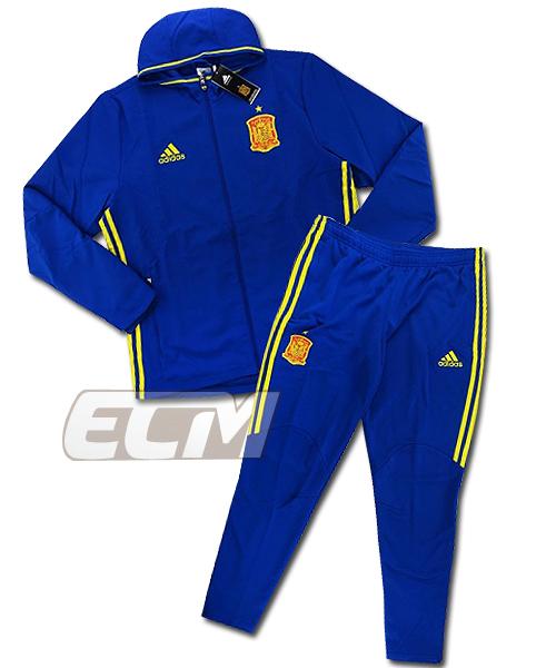 【予約ECM32】【SALE】スペイン代表 フーデッド プレゼンテーショントラックスーツ ブルー【16-17/ワールドカップ/サッカー/spain/トレーニング】330