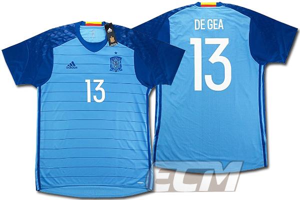 【予約ECM32】【国内未発売】スペイン代表 GK ホーム 半袖 プレイヤーモデル 13番デ・ヘア【サッカー/16-17/ワールドカップ/Spain】