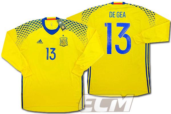【予約ECM32】【国内未発売】スペイン代表 GK アウェイ 長袖 プレイヤーモデル 13番デ・ヘア【サッカー/16-17/ワールドカップ/Spain】