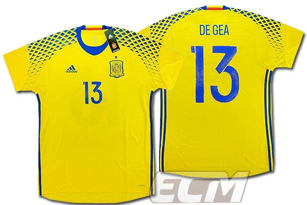 【予約ECM32】【国内未発売】スペイン代表 GK アウェイ 半袖 プレイヤーモデル 13番デ・ヘア【サッカー/16-17/ワールドカップ/Spain】