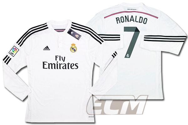 【予約RMD08】レアルマドリード 15-16 ホーム 半袖 7番 Cロナウド【サッカー/リーガエスパニョーラ/ユニフォーム/Real Madrid】ECM32
