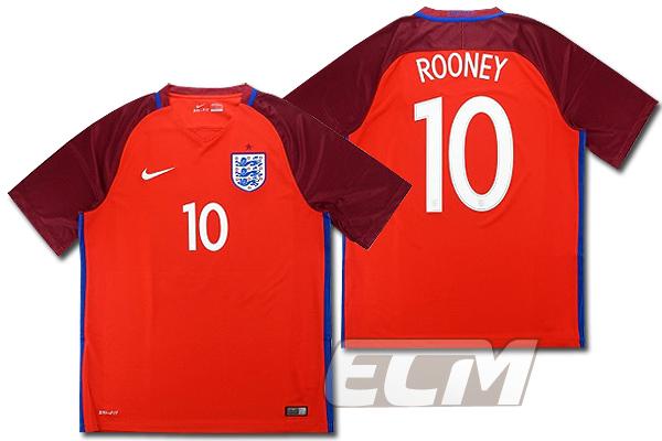 【予約ECM32】イングランド代表 アウェイ 半袖 10番 ルーニー【16-17/ENGLAND/Rooney/サッカー/ユニフォーム】