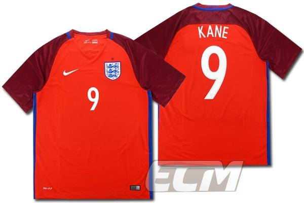 【予約ECM32】イングランド代表 アウェイ 半袖 9番 ケイン【16-17/ENGLAND/KANE/サッカー/ユニフォーム】