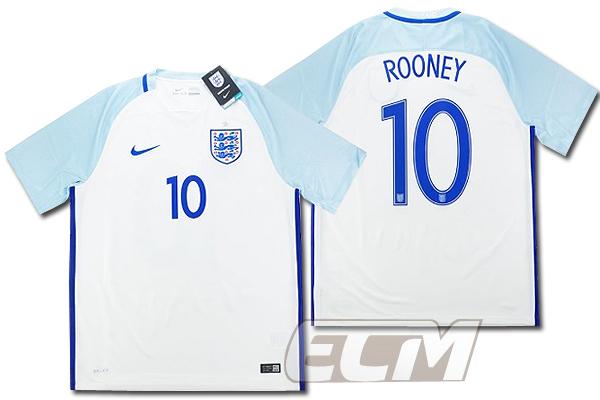 【予約ECM32】イングランド代表 ホーム 半袖 10番 ルーニー【16-17/ENGLAND/Rooney/サッカー/ユニフォーム】