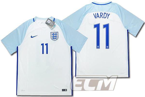 【予約ECM32】イングランド代表 ホーム 半袖 11番 ヴァーディー【16-17/ENGLAND/VARDY/サッカー/ユニフォーム】