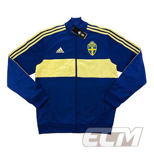 【予約ECM32】【国内未発売】スウェーデン代表 3ストライプ トラックトップ【18-19/Sweden/サッカー/ユニフォーム】