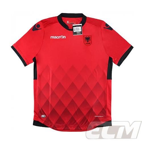 新色 予約ECM32 国内未発売 SALE アルバニア代表 ホーム 半袖 16-17 オーセンティックモデル サッカー albania ワールドカップ macron 激安☆超特価