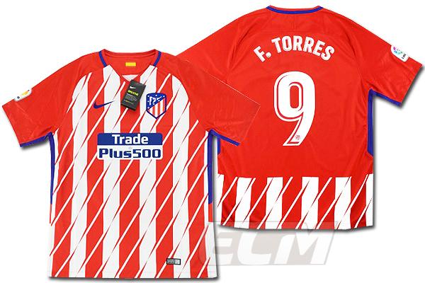 【予約ECM32】【SALE】アトレチコ・マドリード ホーム 半袖 9番 フェルナンド・トーレス【サッカー/17-18/スペインリーグ/Atletico Madrid/Torres】