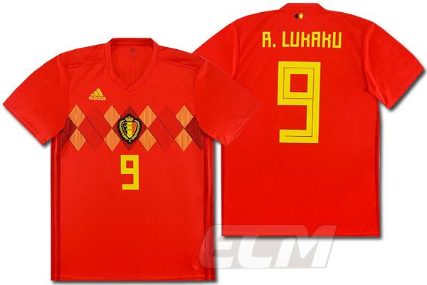 【予約ECM32】【国内未発売】ベルギー代表 ホーム 半袖 9番 ルカク【サッカー/18-19/World Cup/Lukaku/ユニフォーム】