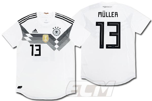 【予約ECM32】【国内未発売】【SALE】ドイツ代表 ホーム 半袖 オーセンティック 13番ミュラー【18-19/ワールドカップ/サッカー/ユニフォーム/GERMANY】