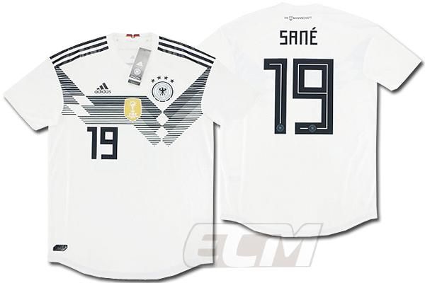 【予約ECM32】【国内未発売】【SALE】ドイツ代表 ホーム 半袖 オーセンティック 19番レロイ・サネ【18-19/ワールドカップ/サッカー/ユニフォーム/GERMANY】