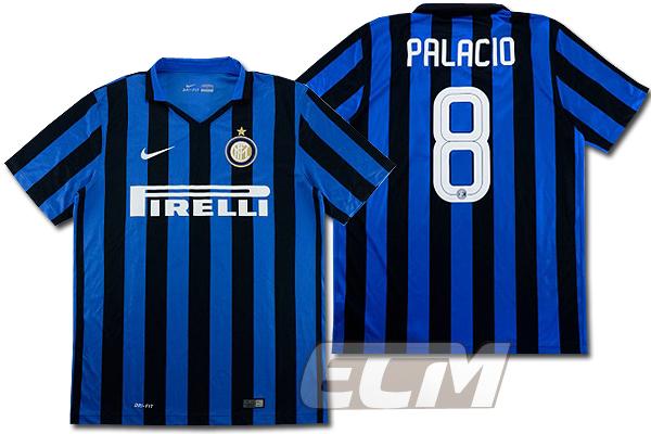 【予約ECM32】インテル ホーム 半袖 8番パラシオ【15-16/セリエA/Inter Milan/サッカー/ユニフォーム】