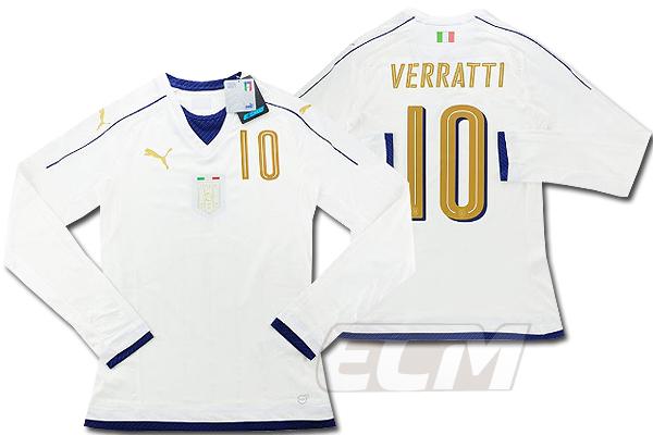 【予約ECM32】【国内未発売】【SALE】イタリア代表 2006 アウェイ トリビュート ACTVモデル 長袖 10番ヴェラッティ【16-17/サッカー/ユニフォーム/アズーリ】