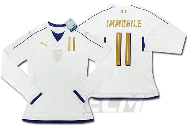 【予約ECM32】【国内未発売】【SALE】イタリア代表 2006 アウェイ トリビュート ACTVモデル 長袖 11番インモービレ【16-17/サッカー/ユニフォーム/アズーリ】
