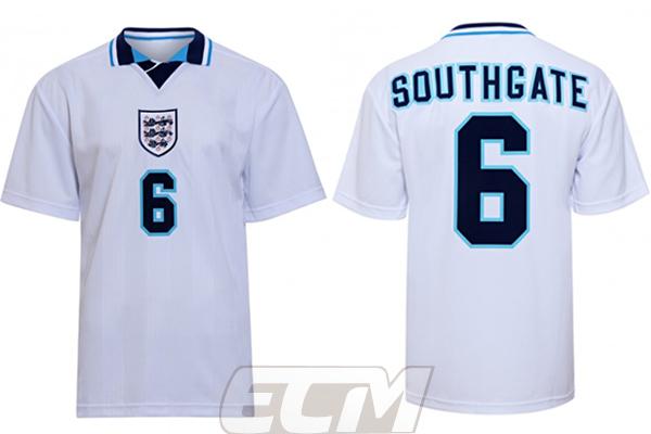 【国内未発売】SCD01ScoreDraw イングランド代表 1996 ホーム モデル 6番 サウスゲート【ENGLAND /サッカー/ワールドカップ/ユニフォーム】ScoreDraw