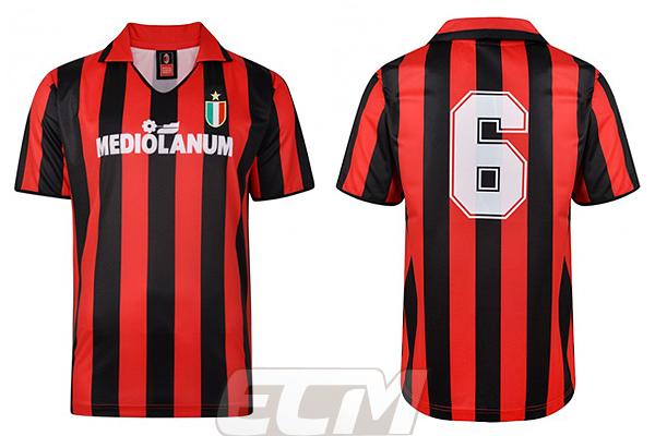 【予約SCD01】【国内未発売】ScoreDraw ACミラン 1988 ホーム 6番 バレージ 復刻モデル【スコアドロウ/サッカー/セリエA/ユニフォーム/AC Milan】